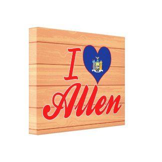 I Love Allen, New York Canvas Prints