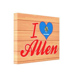 I Love Allen, Oklahoma Gallery Wrap Canvas