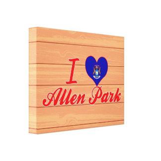 I Love Allen Park, Michigan Canvas Print