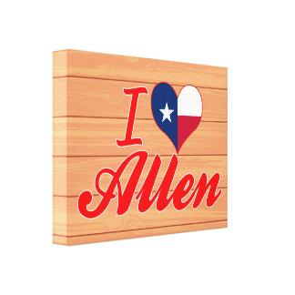 I Love Allen, Texas Stretched Canvas Print