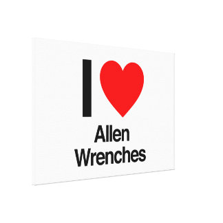 i love allen wrenches stretched canvas print