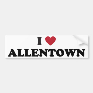 I Love Allentown Pennsylvania Bumper Sticker