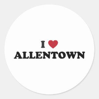 I Love Allentown Pennsylvania Classic Round Sticker