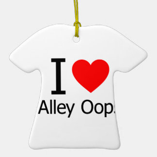 I Love Alley Oops Christmas Tree Ornaments