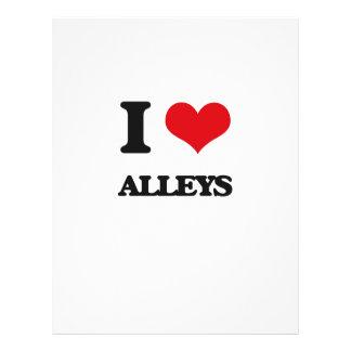I Love Alleys Flyer Design