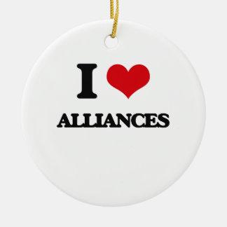 I Love Alliances Christmas Tree Ornament