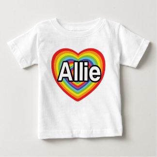 I love Allie, rainbow heart Baby T-Shirt
