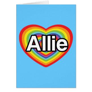 I love Allie, rainbow heart Card