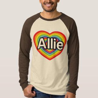 I love Allie, rainbow heart T-Shirt