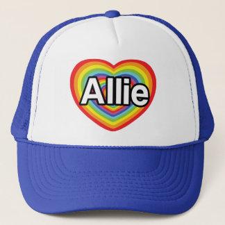I love Allie, rainbow heart Trucker Hat