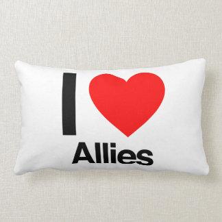i love allies throw pillows