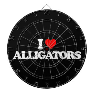 I LOVE ALLIGATORS DARTBOARD