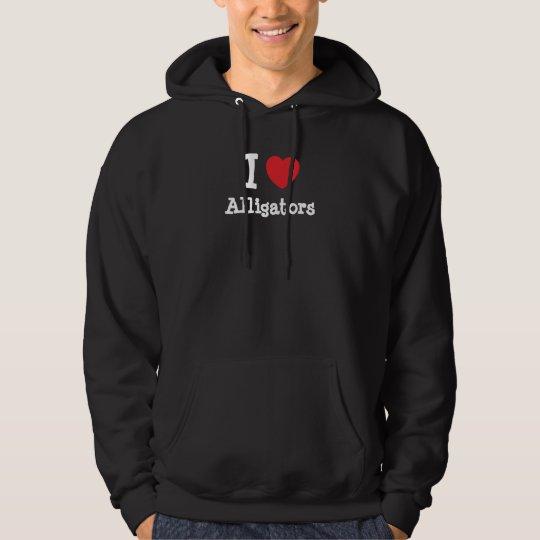 I love Alligators heart custom personalized Hoodie