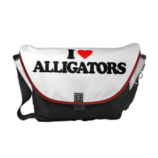 I LOVE ALLIGATORS COURIER BAGS