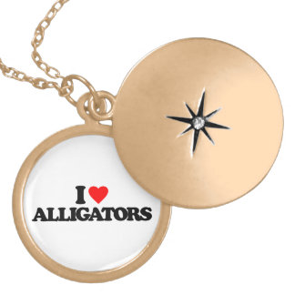 I LOVE ALLIGATORS CUSTOM NECKLACE