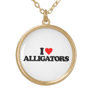 I LOVE ALLIGATORS NECKLACE