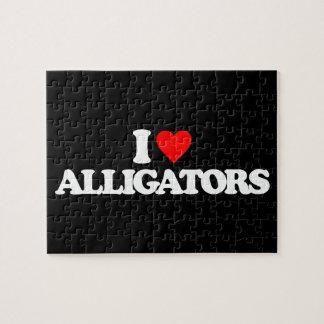 I LOVE ALLIGATORS PUZZLE