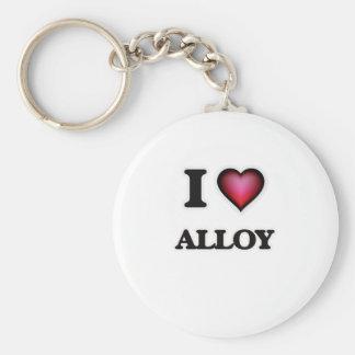 I Love Alloy Keychain