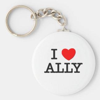 I Love Ally Keychain