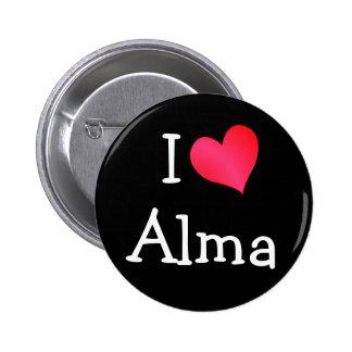I Love Alma 2 Inch Round Button