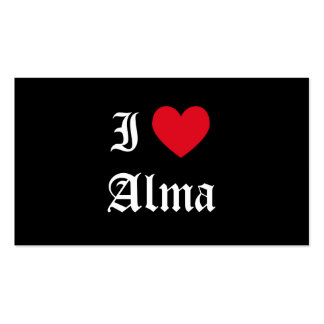 I Love Alma Double-Sided Standard Business Cards (Pack Of 100)