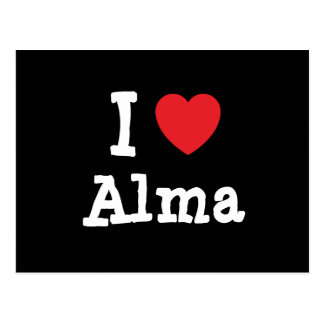 I love Alma heart T-Shirt Postcard