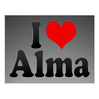 I love Alma Postcard