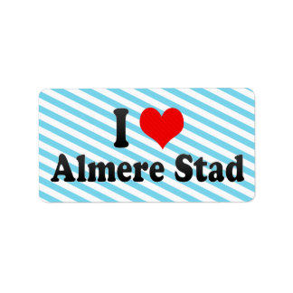 I Love Almere Stad, Netherlands Address Label
