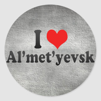 I Love Al'met'yevsk, Russia Classic Round Sticker