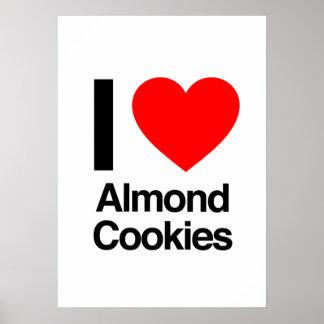 i love almond cookies print