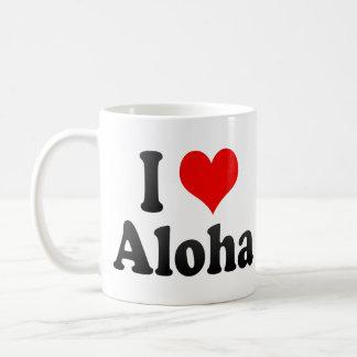 I Love Aloha United States Coffee Mugs