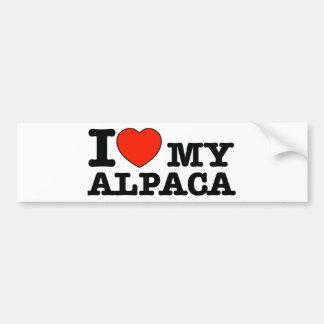 I Love alpaca Bumper Sticker