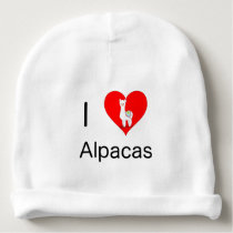 I love alpacas baby beanie