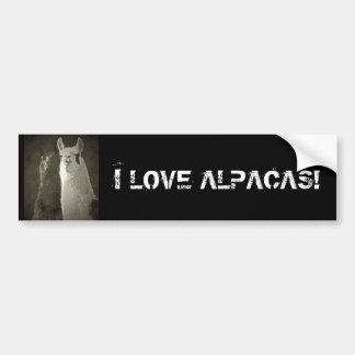 I Love Alpacas! Bumper Sticker