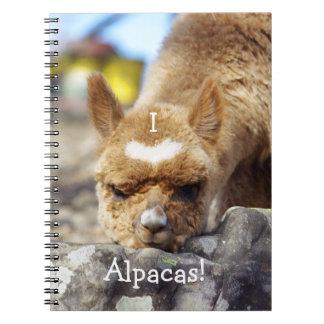 I Love Alpacas Notebook
