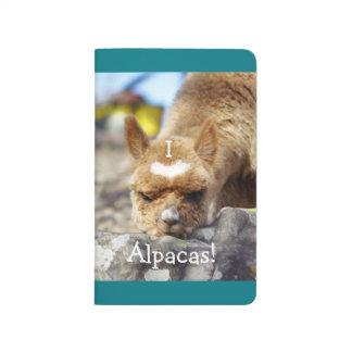 I Love Alpacas Pocket Journal