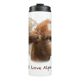 I Love Alpacas Thermal Tumbler