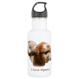 I Love Alpacas Water Bottle