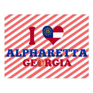 I Love Alpharetta, Georgia Postcard