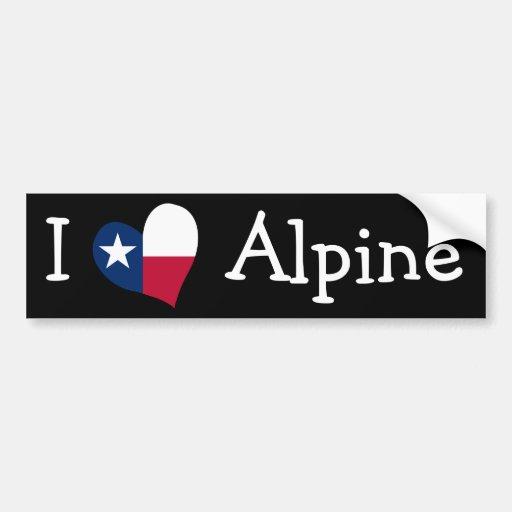 I Love Alpine Bumper Sticker