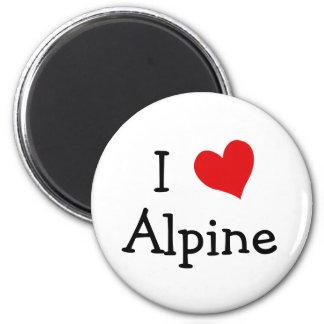 I Love Alpine Refrigerator Magnet