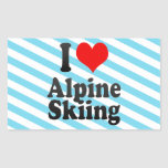 I love Alpine Skiing Stickers