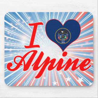I Love Alpine, Utah Mouse Pad