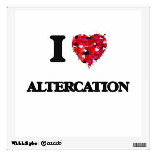 I Love Altercation Wall Decals