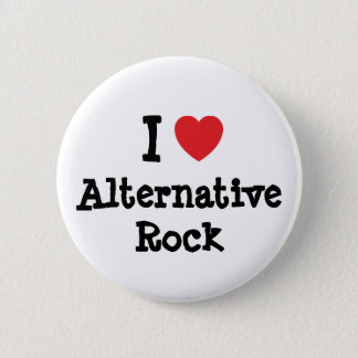 I love Alternative Rock heart custom personalized Pinback Button