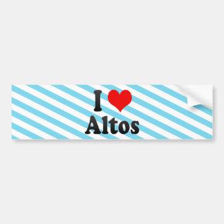 I Love Altos, Brazil Bumper Sticker