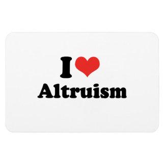 I LOVE ALTRUISM - .png Rectangular Magnet