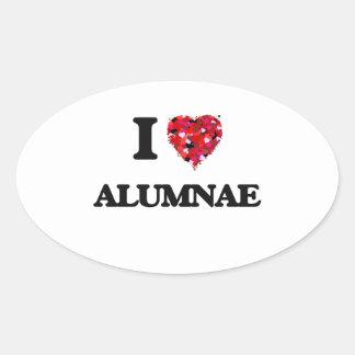 I Love Alumnae Oval Sticker
