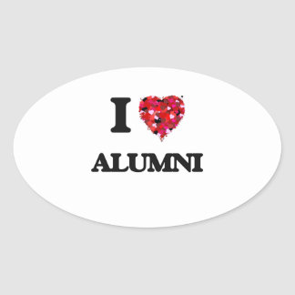 I Love Alumni Oval Sticker