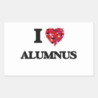 I Love Alumnus Rectangular Sticker